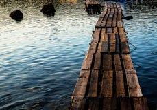Skogsbevuxen bro i porten Royaltyfri Foto
