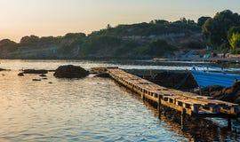 Skogsbevuxen bro i porten Arkivbilder