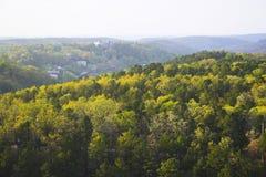 skogsbevuxna kullar Royaltyfria Bilder
