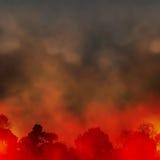 Skogsbrand stock illustrationer
