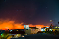 Skogsbrand i sänka del Bosque, Cuernavaca, Morelos, Mexico Royaltyfri Bild