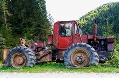Skogsbruktraktor Royaltyfria Bilder