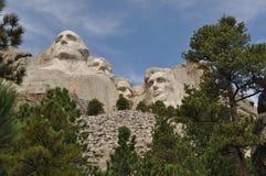 Skogsmarker för Mt Rushmore South Dakota royaltyfri fotografi