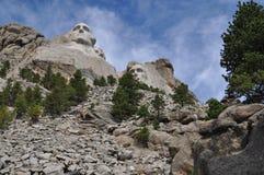 Skogsmarker för Mt Rushmore South Dakota arkivfoton