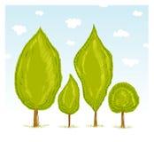 skogtrees vektor illustrationer