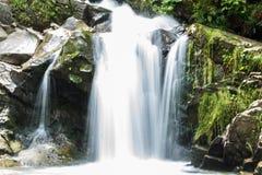 Skogvattenfall Kamenka arkivfoton