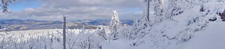 Skojad kulle, Liberec område, Tjeckien, Arkivbild