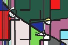 Skojarzenie kolory w geometrycznych i niedokonanych innych formach Zdjęcie Stock