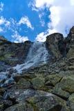 Skok瀑布,高Tatras在斯洛伐克 免版税库存图片