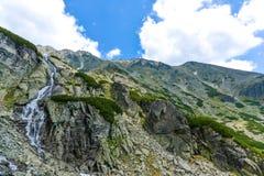 Skok瀑布,高Tatras在斯洛伐克 免版税图库摄影