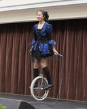 Skok arkany Unicycle Obraz Stock