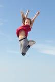 Skok dla radości Fotografia Royalty Free