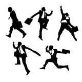Skok i działający biznesmeni ilustracji