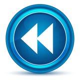 Skok ikony zacofanej gałki ocznej round błękitny guzik ilustracja wektor