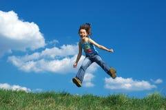 skok młodych dziewcząt Fotografia Royalty Free
