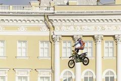 Skok na motocyklu Obrazy Stock