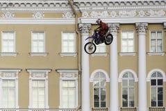 Skok na motocyklu Fotografia Royalty Free