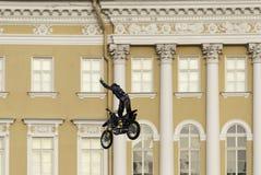 Skok na motocyklu Obraz Royalty Free