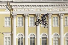 Skok na motocyklu Fotografia Stock
