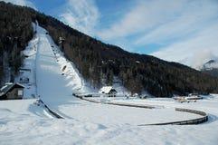 skok na nartach Zdjęcia Royalty Free