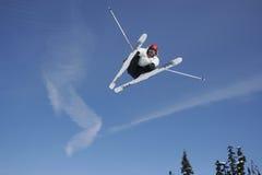 skok na nartach jetstream Fotografia Royalty Free