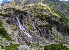 Skok vattenfall, Slovakien Arkivbilder