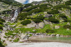 Skok Waterfall, Mlynicka Valley, Slovakia Royalty Free Stock Image