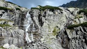 Skok waterfall stock footage