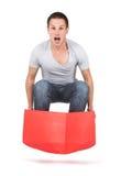 Skok z pudełka Obrazy Stock