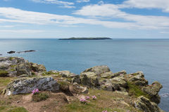 Skokholm Island West Wales coast near Skomer Stock Image