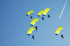 skoki z samolotu Fotografia Stock