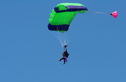 skoki z samolotu Zdjęcia Royalty Free