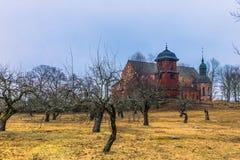 Skokloster, Швеция - 1-ое апреля 2017: Церковь Skokloster, Швеция стоковые фото