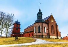 Skokloster Sverige - April 1, 2017: Skokloster kyrka, Sverige royaltyfri bild