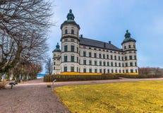 Skokloster Sverige - April 1, 2017: Skokloster slott, Sverige royaltyfria bilder