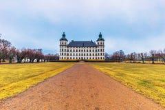 Skokloster Sverige - April 1, 2017: Skokloster slott, Sverige royaltyfri foto