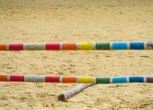 Skokowa bariera dla końskiej rasy Fotografia Stock