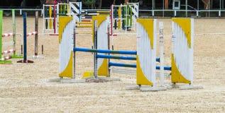 Skokowa bariera dla końskiej rasy Obraz Royalty Free