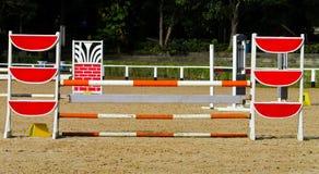 Skokowa bariera dla końskiej rasy Obrazy Royalty Free