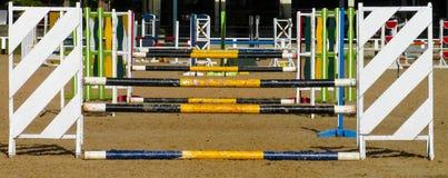 Skokowa bariera dla końskiej rasy Zdjęcie Stock