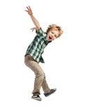 Skokowa chłopiec zdjęcia royalty free