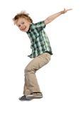 Skokowa chłopiec zdjęcia stock