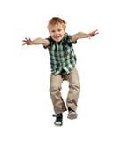 Skokowa chłopiec zdjęcie stock
