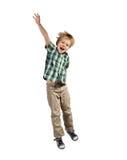 Skokowa chłopiec obrazy royalty free