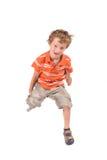 Skokowa chłopiec Fotografia Royalty Free