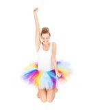 Skokowa kobieta w baleriny spódnicie Zdjęcia Royalty Free