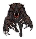 skokowa pantera royalty ilustracja