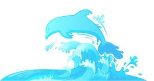 Skokowy delfin z wody Fotografia Royalty Free