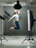 Skokowy model Zdjęcie Royalty Free