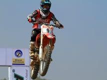 skokowy motocross patel jeźdza tabletop gwałtownie skręcać Zdjęcia Stock